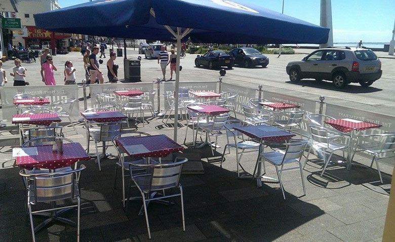 Seating Outside The Hope Hotel