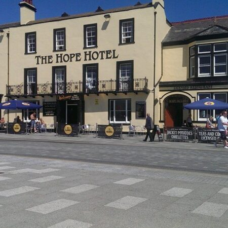 The Hope Hotel Entrance on Southend-on-Sea Seafront