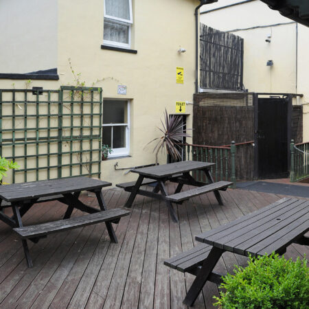 The Hope Hotel Beer Garden Panoramic View