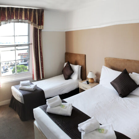 Double and Single Bed Room in The Hope Hotel
