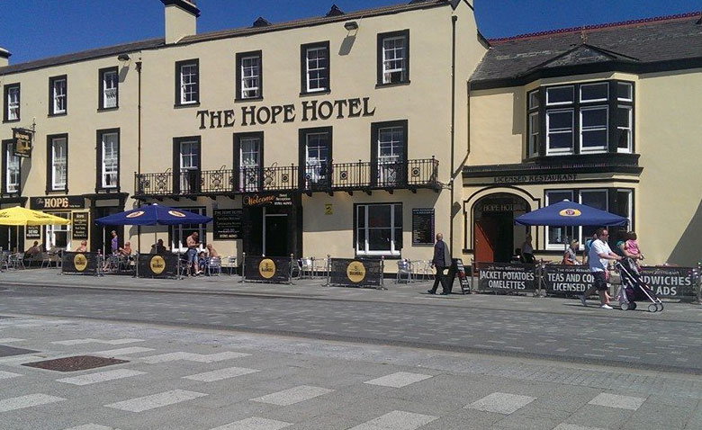 The Hope Hotel Front Entrance on Southend-on-Sea Seafront