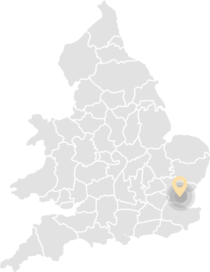 Map With Southend-on-Sea Pin